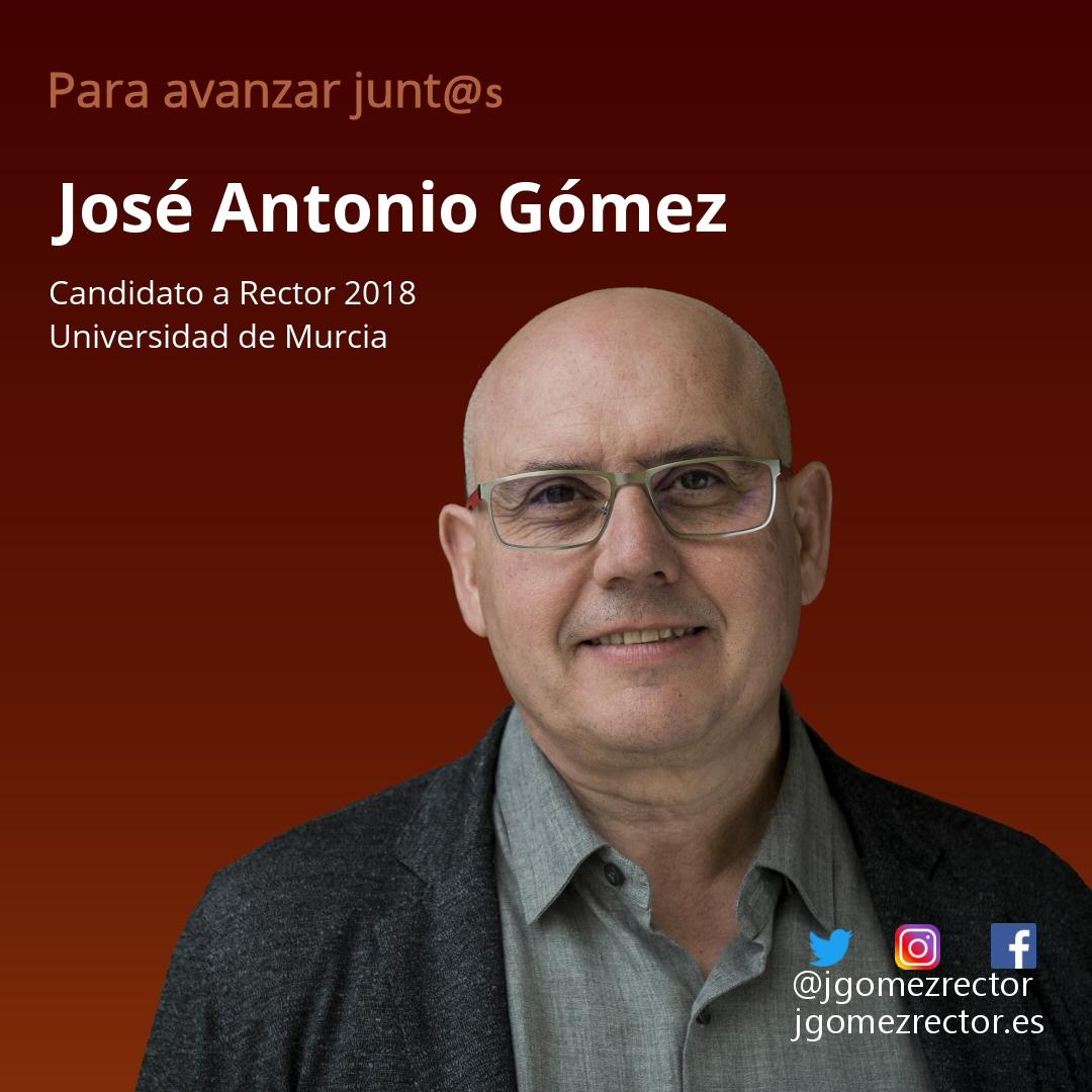 José Antonio Gómez. Candidato a Rector de la Universidad de Murcia