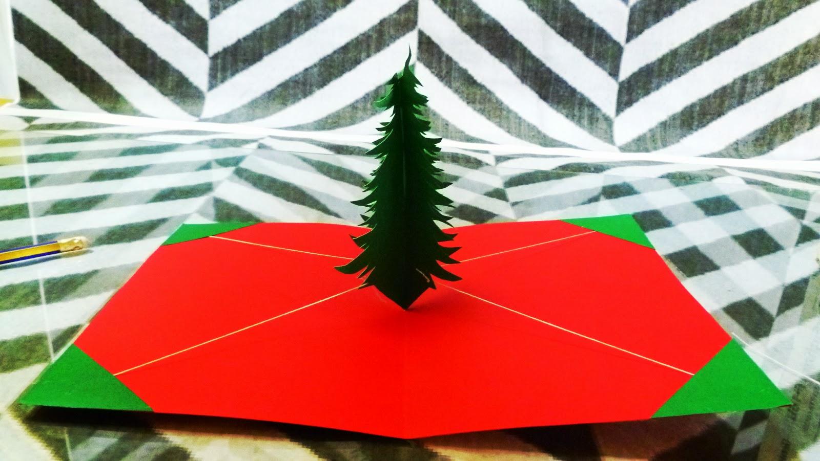 Tarjeta Pop Up árbol de navidad – Jeguridos