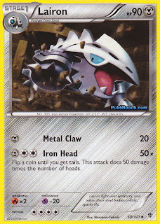 Lairon Plasma Blast Pokemon Card