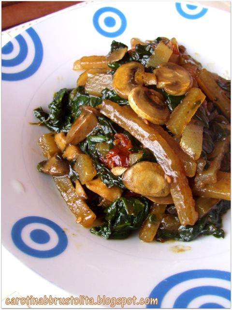 bastoncini di amido di seitan con verdure