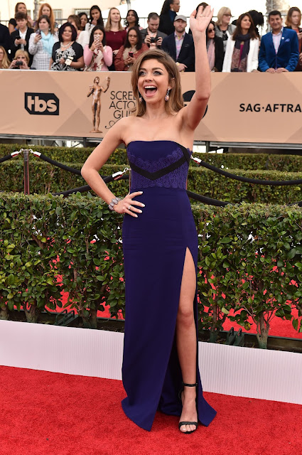 Actress, @ Sarah Hyland - 22nd Annual Screen Actors Guild Awards at Shrine Auditorium in LA