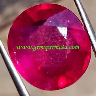 Batu Permata Purplish Red Ruby Corundum