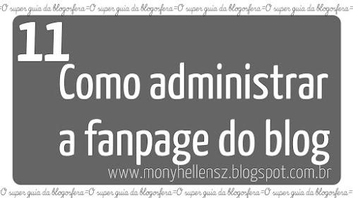 SGB 11# Como administrar a fanpage do blog