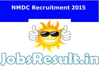 NMDC Recruitment 2015