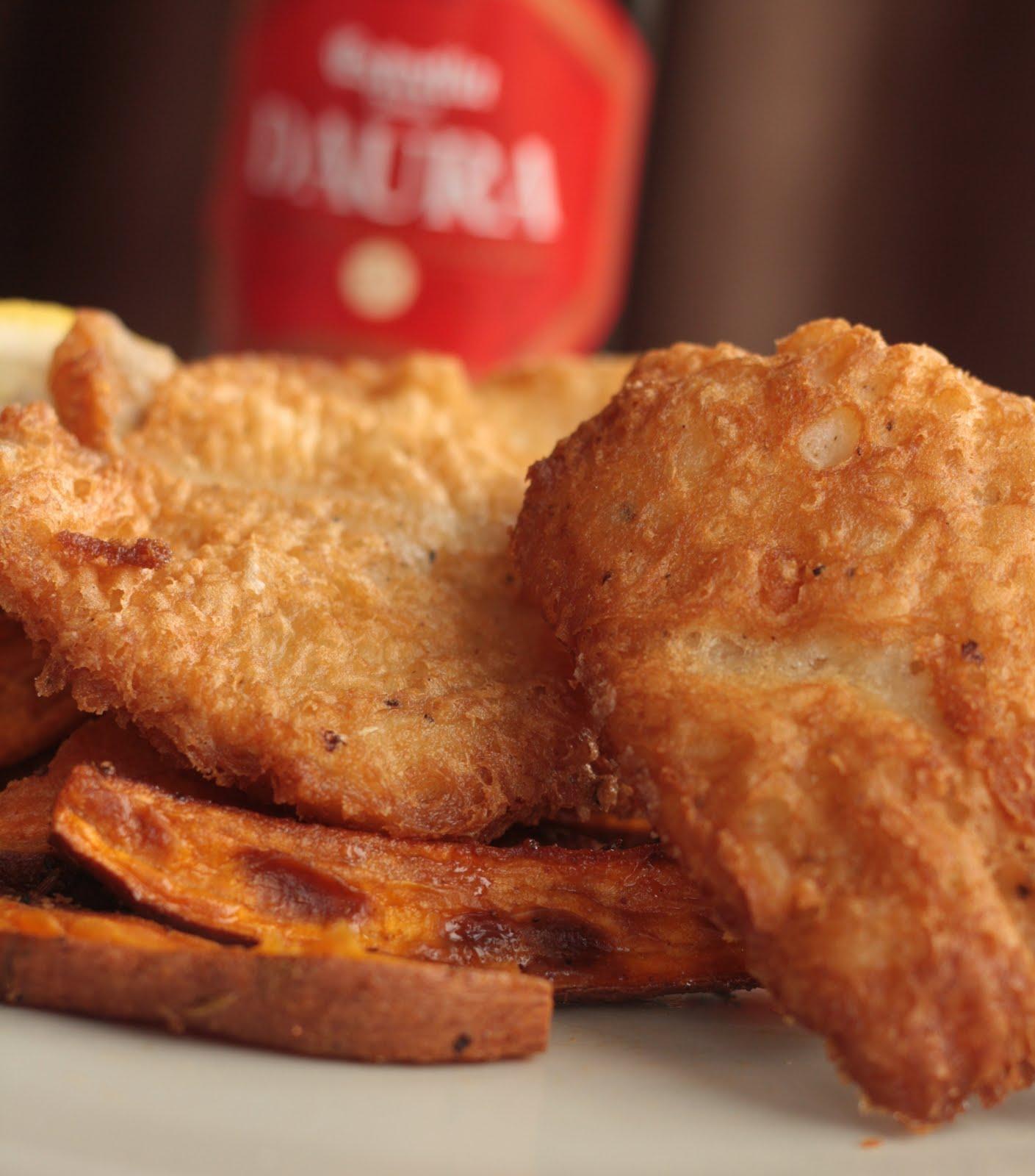 Le bon viveur gluten free beer battered fish and chips for Beer battered fish