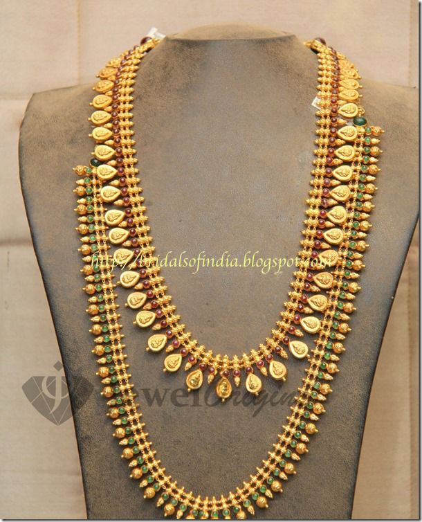 Fashion world kerala traditional jewelry long haram for Top 50 jewelry design schools in the world