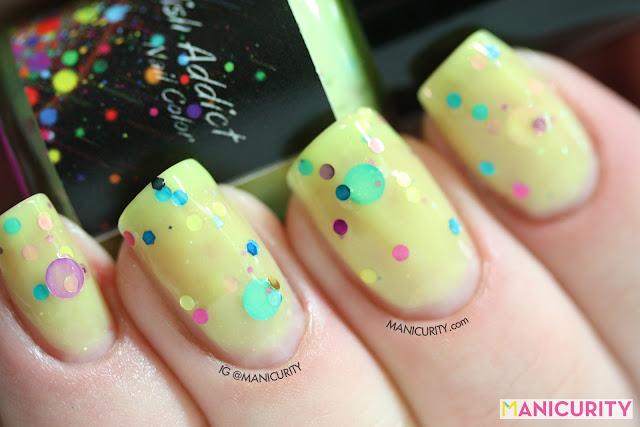 Manicurity | Polish Addict Nail Color = Yellow Polka Dot Bikini