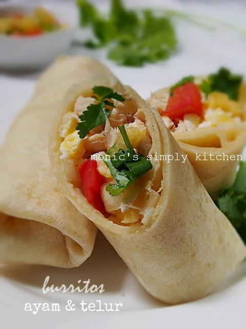 resep burritos ayam telur mudah