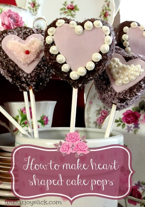 how to make heart shaped cake pops