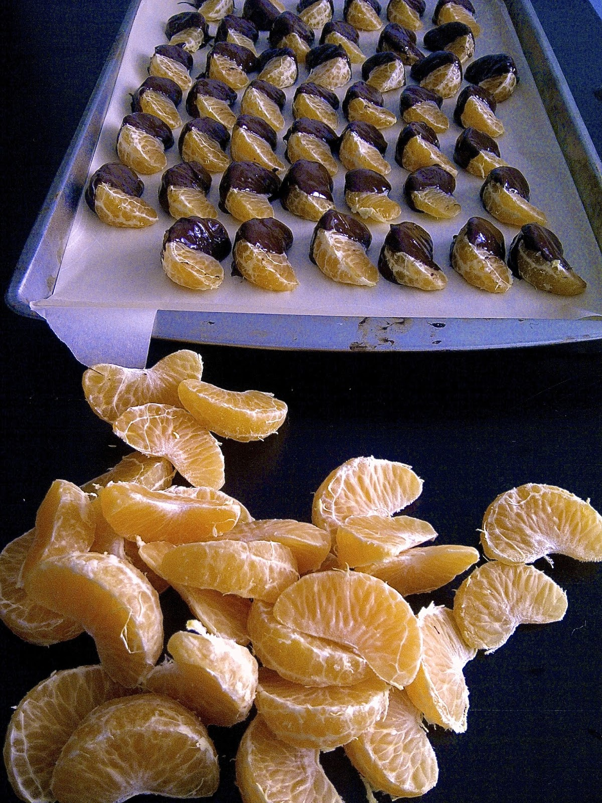 Chocolate Dipped Tangerines!  www.soliloquyoffood.com
