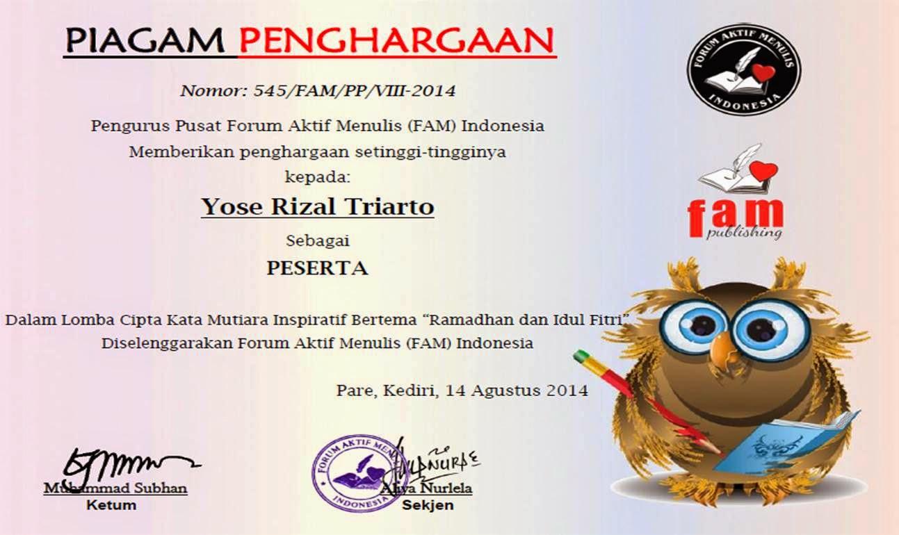 FAM Indonesia Kata Mutiara Inspiratif