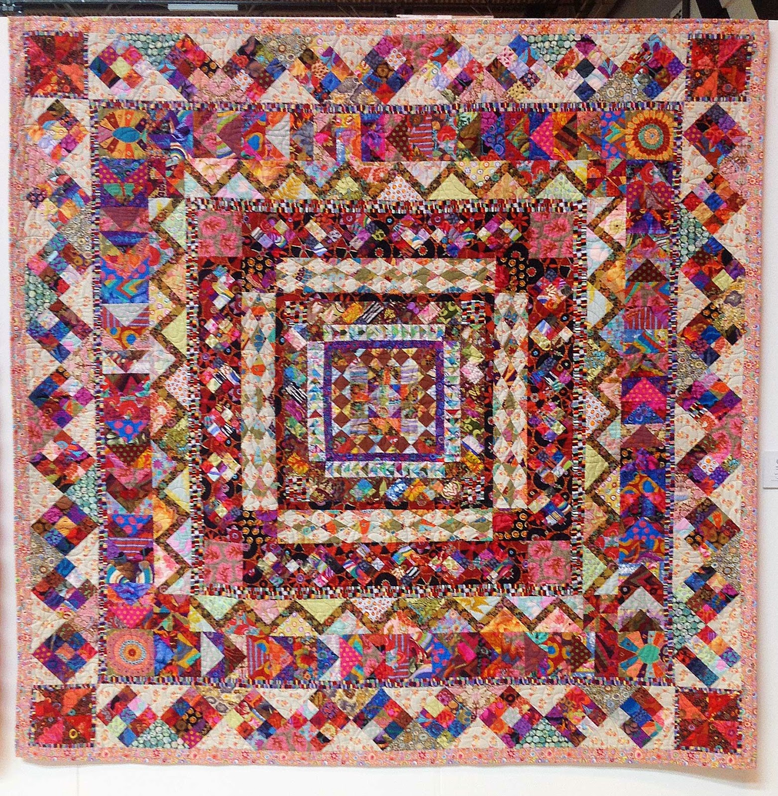 'V and A Postcard Quilt' by Jean Phillips and Andrew Whittle Kaffe Fassett Scrap