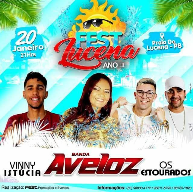 Neste sábado Fest Lucena traz pra vcs Banda Aveloz