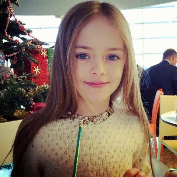 Foto Kristina Pimenova salah satu anak tercantik di dunia gambar terbaru