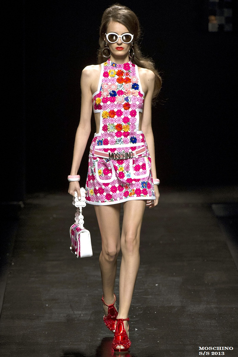 Dungarees, trend, floral dungarees, Moschino S/S 2013, overalls