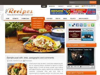 iRecipes Wordpress Template