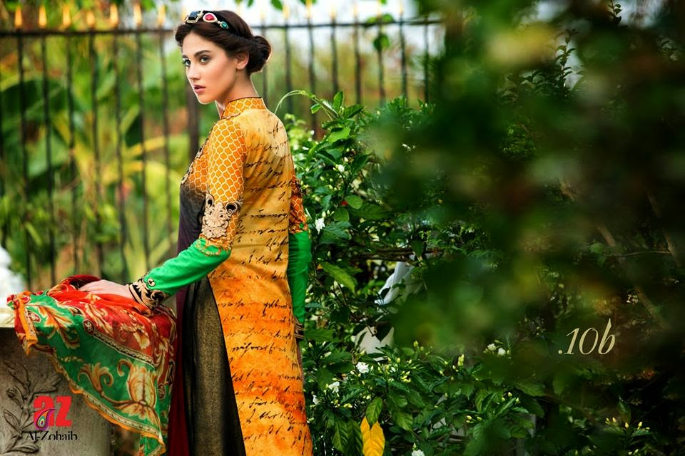 New pakistani luxury lawn collection 2015