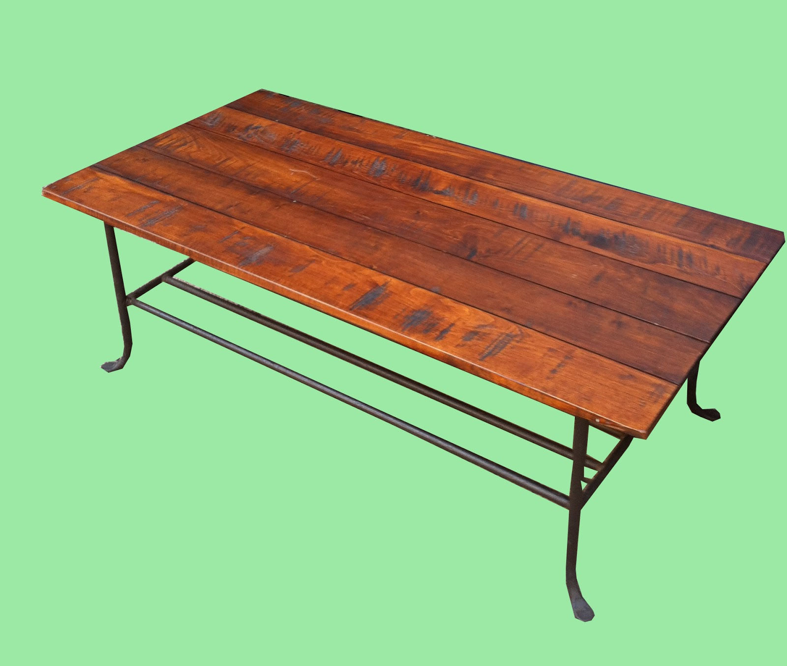 Uhuru Furniture Collectibles Wood Iron Coffee Table Sold