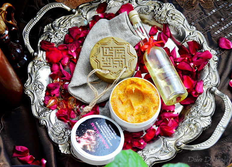 Rytuał Hammam - savon Noir, mydło Aleppo, rękawica kessa, olej naturalny