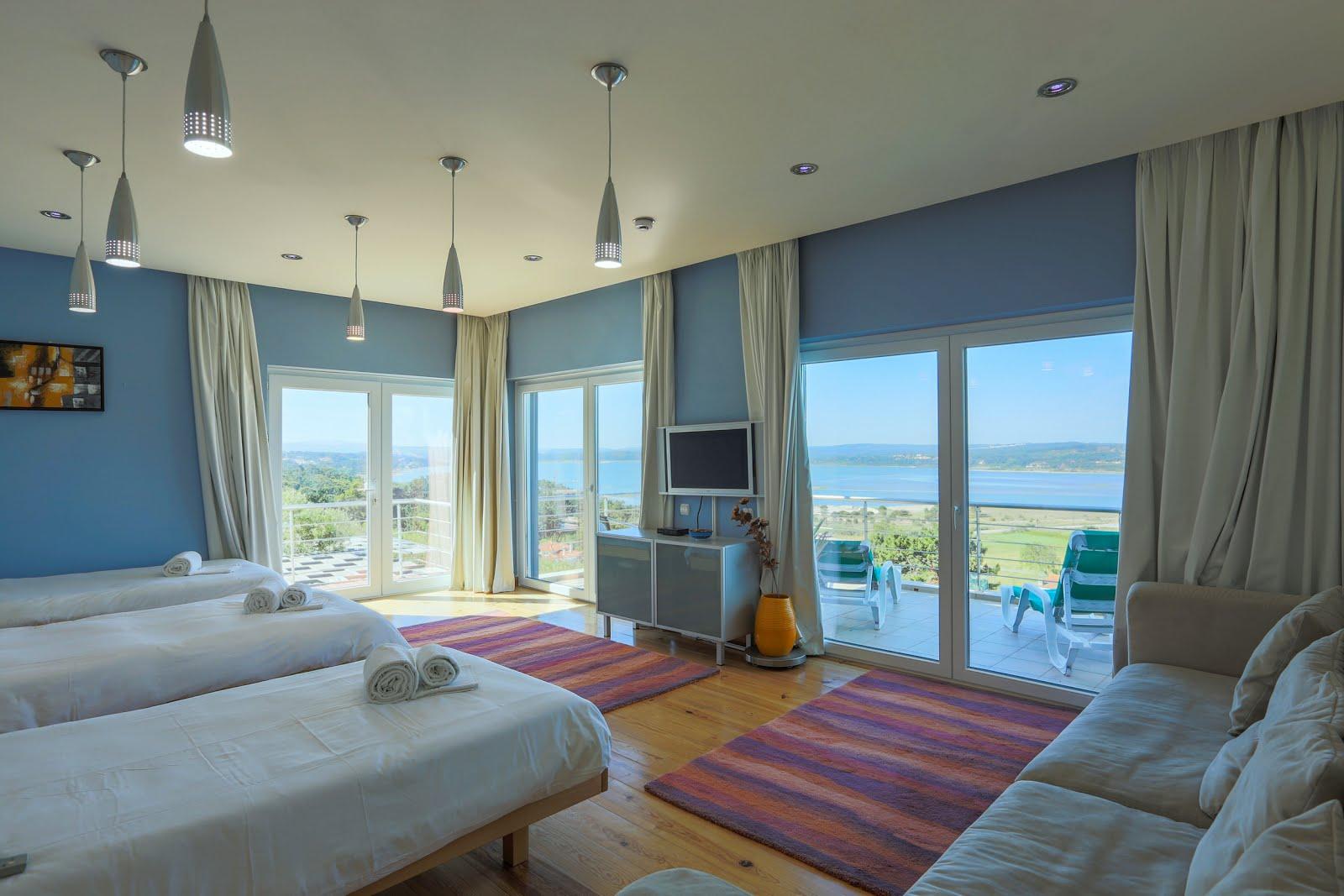 One bedroom, large balcony