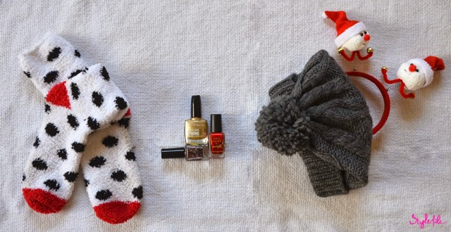 fuzzy, socks, warm, beanie, snowman, wool, head gear, hair band, nail paint, nail polish