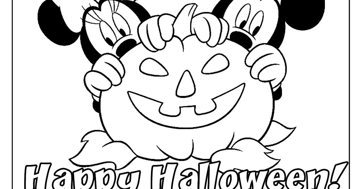 Disney Coloring Pages And Sheets For Kids Mickey Friends Halloween 2 Free