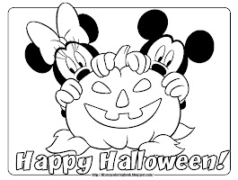 Mickey Mouse Halloween Pumpkin Coloring Pages