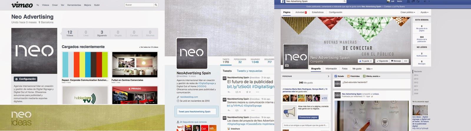 Medios sociales de Neo Advertising