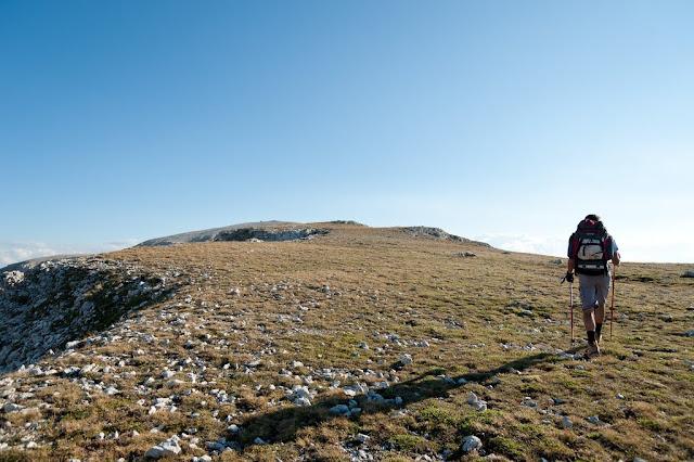 Ripido pendio finale per Monte Amaro