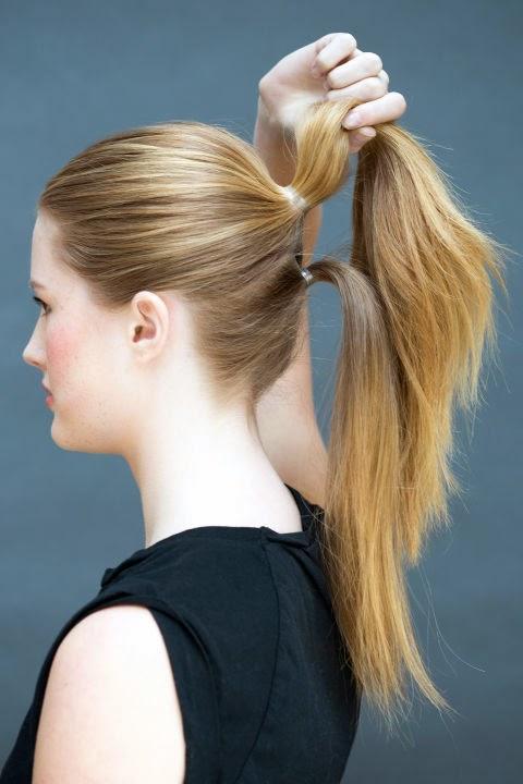 Как сделать хвост из волос фото