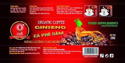 thành phần O' Coffee Ocewa Cà phê Sâm 4 in 1
