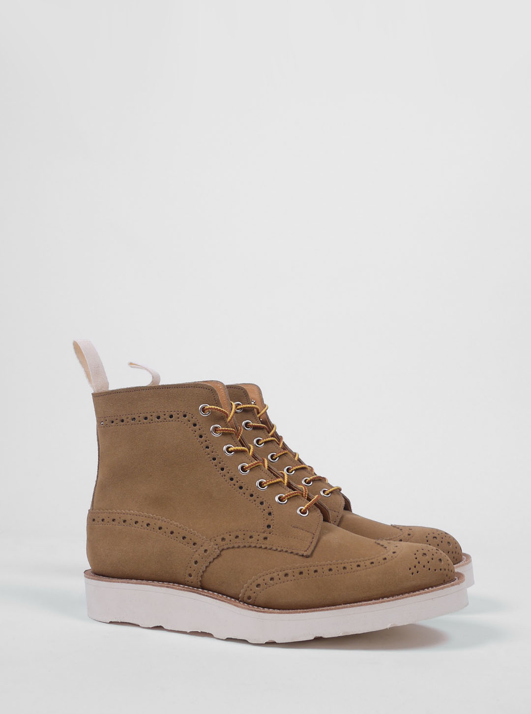 wear different trickers gaucho suede brogue boot