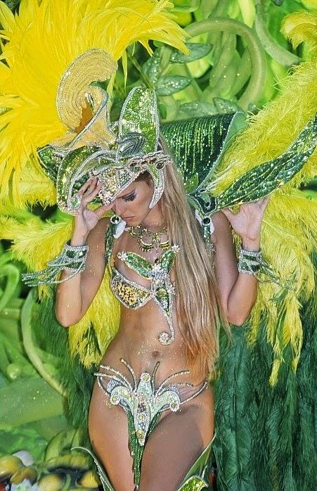 Brazil, Rio Carnival - Samba fantasy, Woman In Sexy Costume