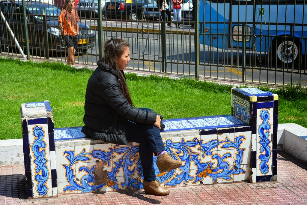 La Serena mosaic bench