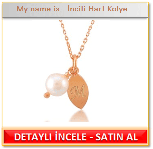 My name is - İncili Harf Kolye