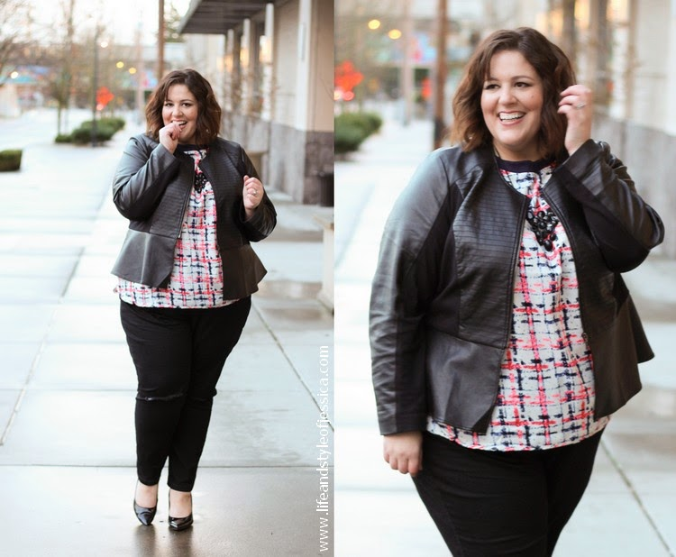 The perfect plus size black ripped knee skinny jean! - Life and ...
