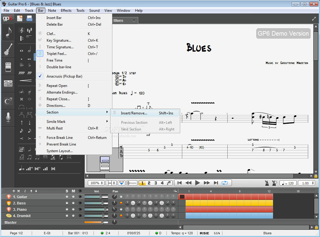 Guitar Pro 6.1.6 Screenshot