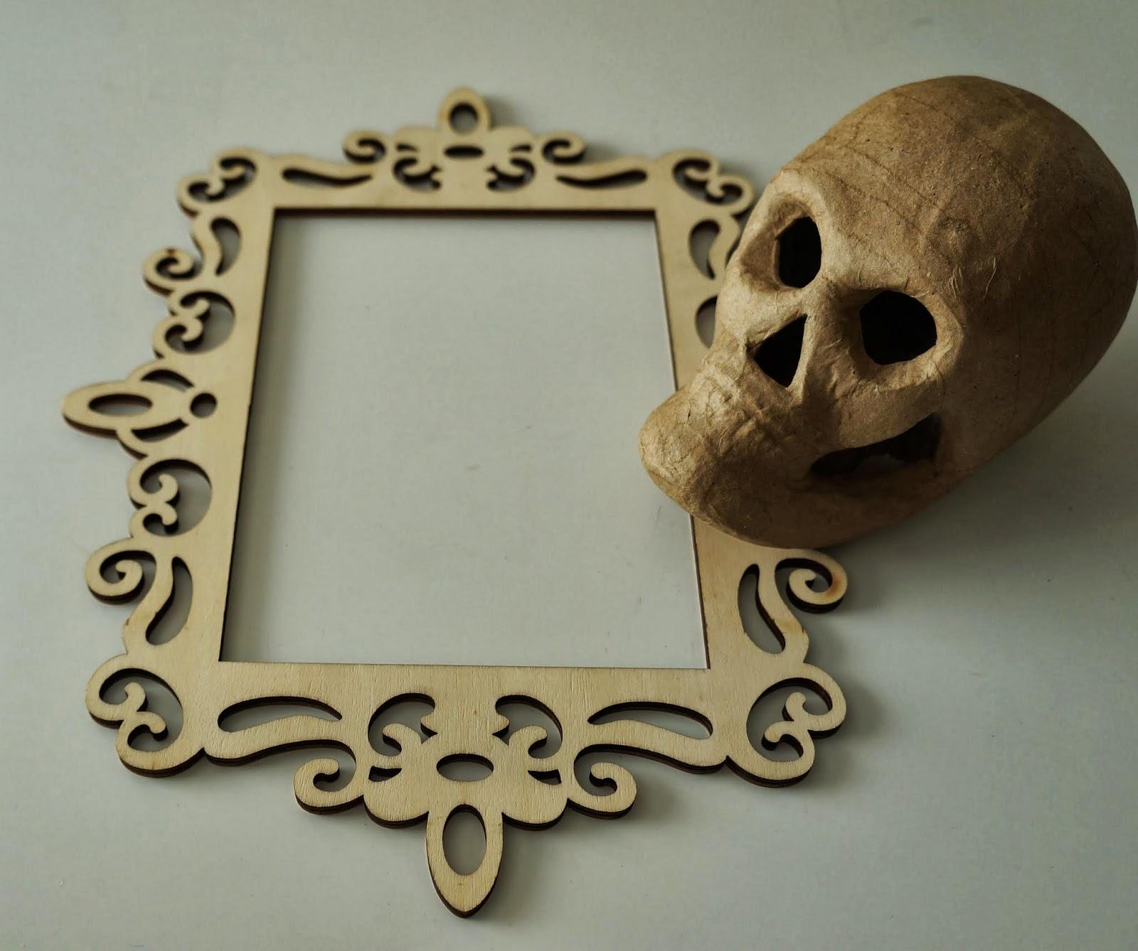 Ginger Wilson: Framed Day of the Dead skulls, Part 1