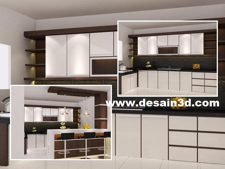 Jasa gambar desain 2d 3d murah berpengalaman revisi for Kitchen set hitam