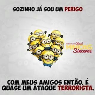 Facebook: Frases minions - amigos terroristas