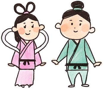 織姫と彦星のイラスト(七夕)