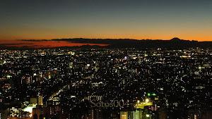 Tokyo, atardece hacia el sur
