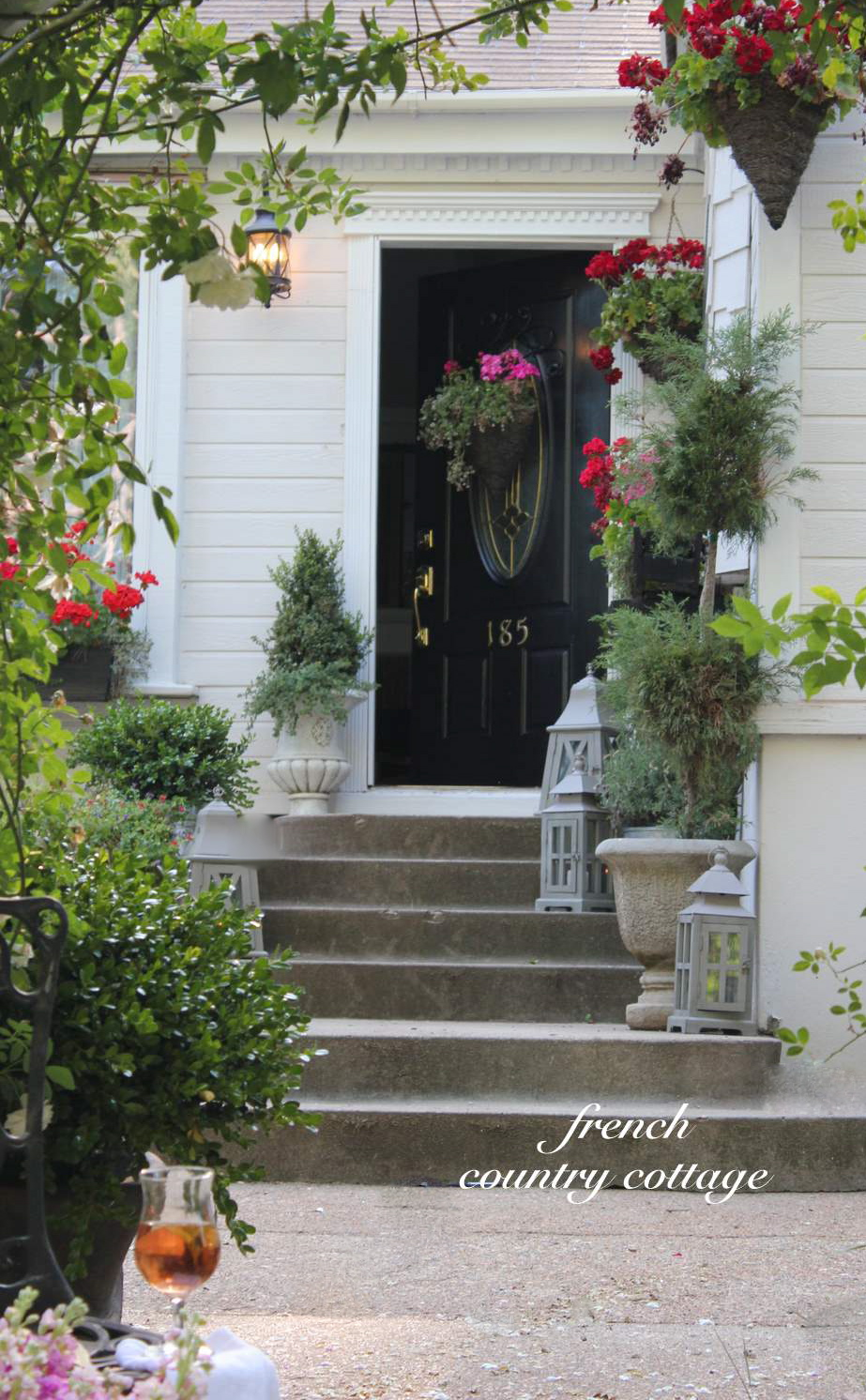 Summer Front Door Refresh - FRENCH COUNTRY COTTAGE