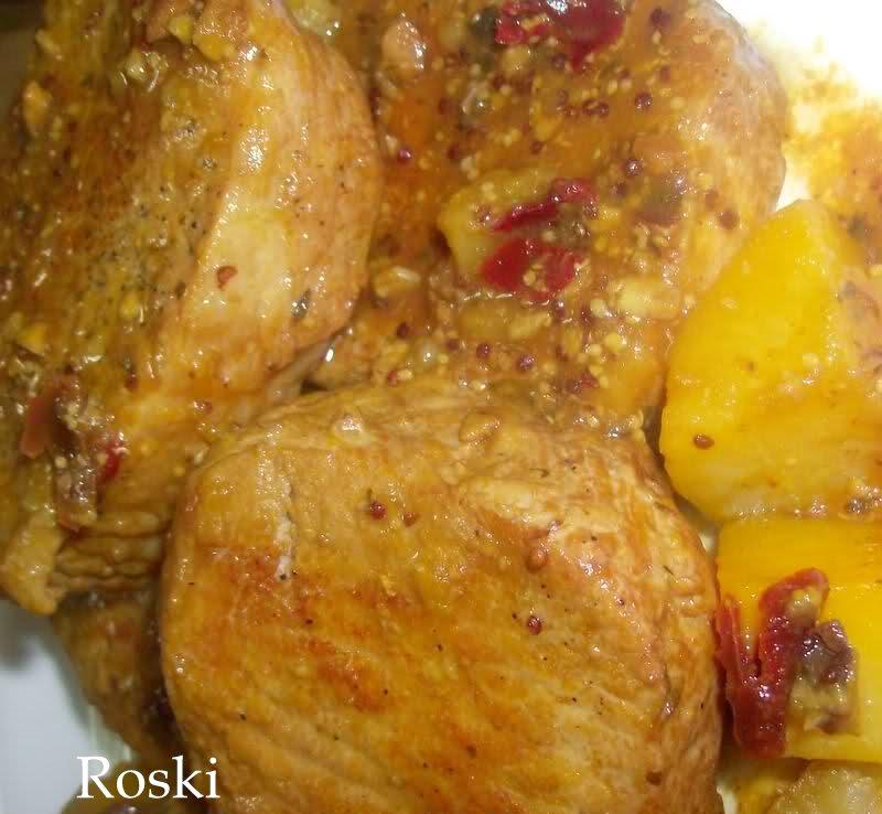 Roski cocina y algo mas yus lomo con picada de pistachos y patatas en fc olla rapida - Patatas en olla rapida ...