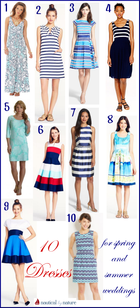 Nautical by Nature | 10 Nautical Dresses for Spring and Summer Weddings
