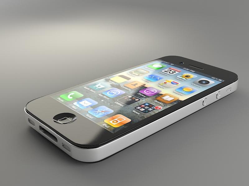 Render en 3ds max del teléfono Iphone 4s
