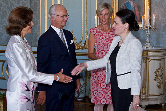 On a few occasions a year there is an opportunity for newly appointed ambassadors with respective to meet the King and Queen at a reception at the Royal Palace.
