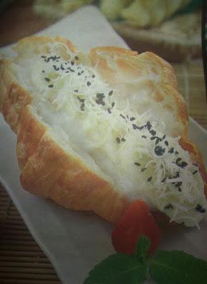 Croissant Sandwich Banana Yoghurt