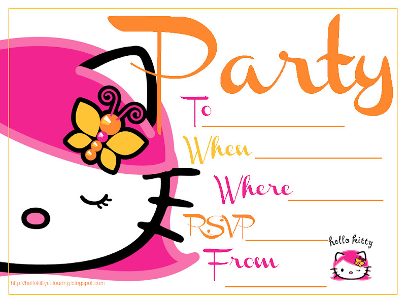 FREE HELLO KITTY PRINTABLE FREE PARTY INVITES title=