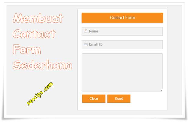 Membuat halaman contact dengan contact form sederhana